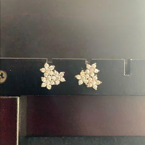 Sterling Silver Cubic Zirconia Flower Earrings